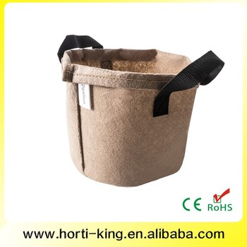 1 gallon Round fabric pots with handles Smart root pouch pot Felt grow bag Aeration bags
