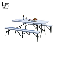 6ft hdpe plastic banquet portable folding table