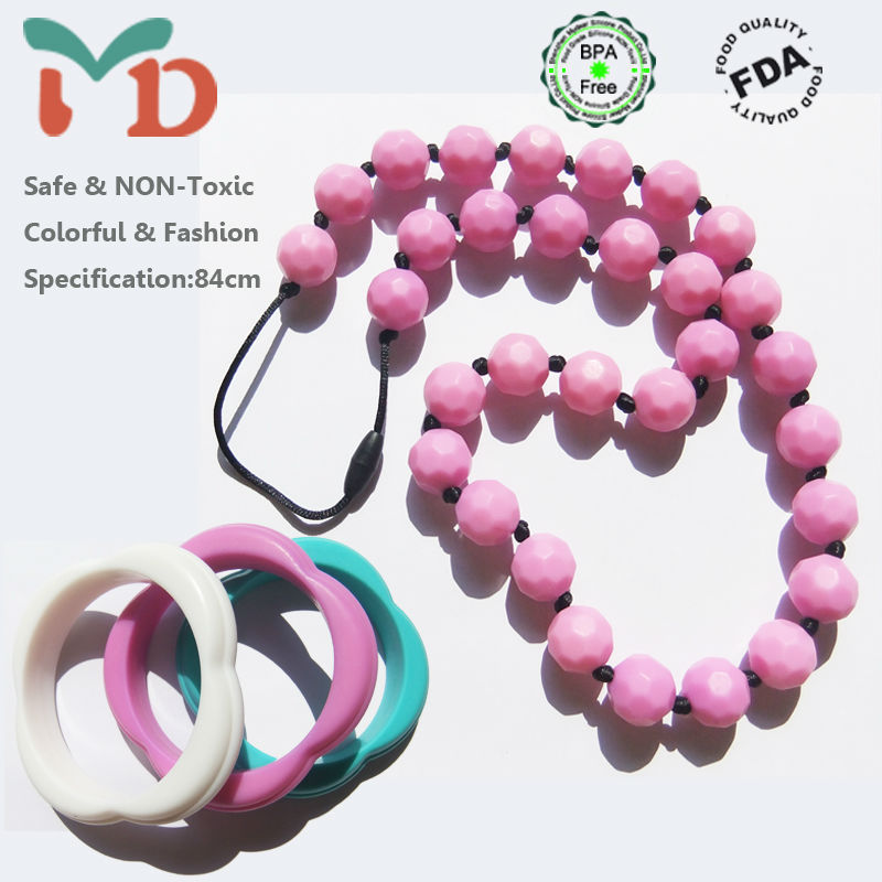 BPA Free rosary bead necklace silicone rubber tattoo necklace