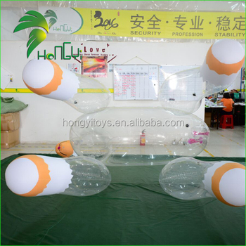 Hongyi Inflatable Transparent Horse Toy , Clear PVC Horse Toys