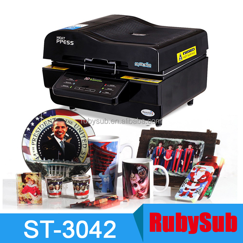 3D Sublimation Printer 3D Vacuum Sublimation Heat Press Transfer Machine Printing for Phone Case Mug Plate Glass Wood ST-3042