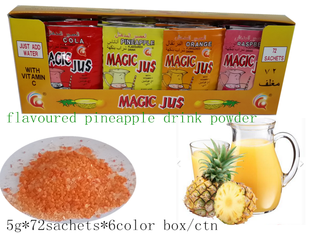 instant fruit flavored drink food packaging powder, powder tang juice powder mixed