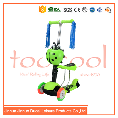 Chinese 3 wheel foot pedal kick scooter car manufacturers TK03