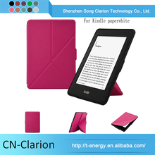 China Manufacturer Cute Tablet Case Pu Leather Cover for kindle paperwhite origami