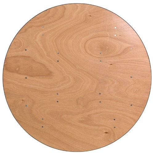 Dia.48 Inch Clear Coated Finished Top Round Wood Folding Wedding Events Table