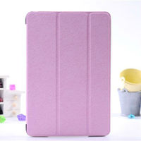 Hot sell for Apple ipad mini PU leather stand case rotating triple folding cover