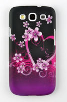 For Samsung Galaxy S3 III i9300 Printing Flower Butterfly Hard Plastic Phone Case Cover