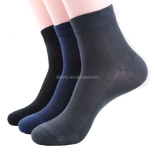 Sbamy Custom Eco friendly anti-bacterial breathable men black 100% bamboo socks