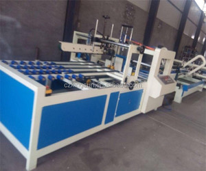 Semi automatic carton box folder gluer machine price
