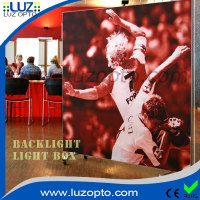 Led Backlit Fabric Picture Frame Advertising Light Box with wheel