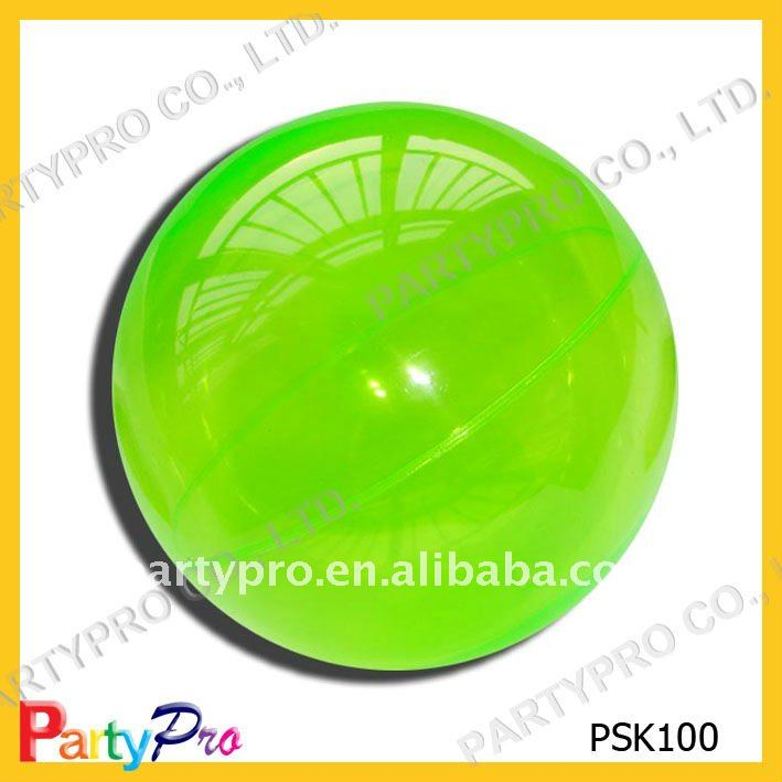 50-110mm DIA colorful hollow plastic super hi bouncing ball(with helium inside)