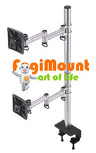Dual Aluminum LCD Monitor Arm, LCD Monitor mount, 2 monitor arm