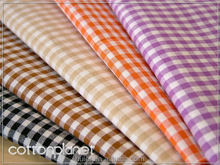 high quality plaid fabric yarn dyed cotton polyester twill shirt fabric