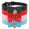 Bow tie dog collar with bell Dotted dog collar bow tie