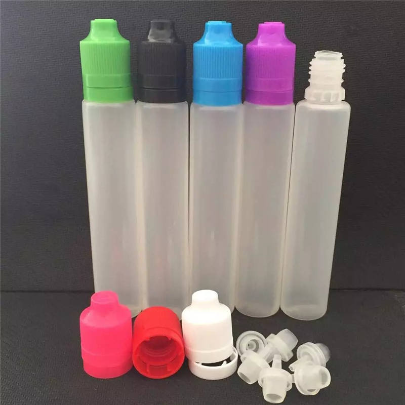 Safe Tamper Evident Caps Pen Style 30ml 60ml E Cig Liquid Dropper Unicorn Bottle 60 ml 30 ml plastic bottle vape