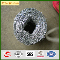 4 tips reverse twisted galvanized barbed wire with handle ,high tensile strength
