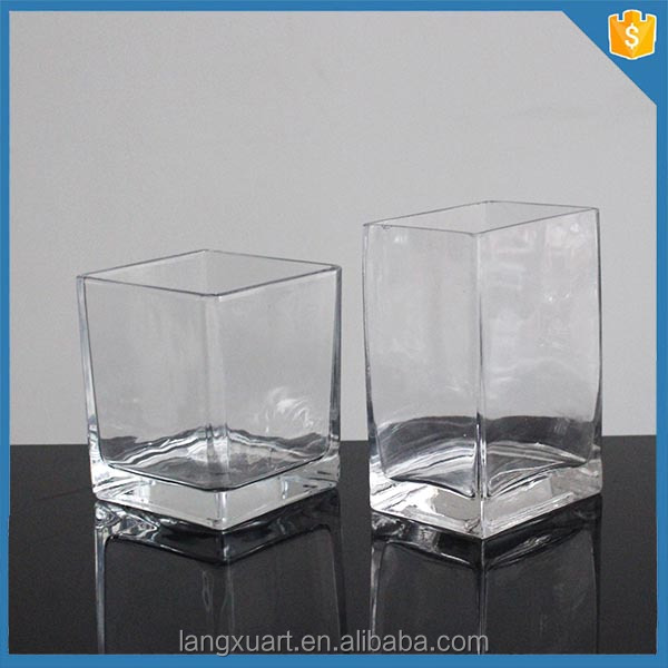 crystal glass different types clear square glass vase