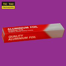 Disposable food aluminium foil roll Cut Box 30cm width