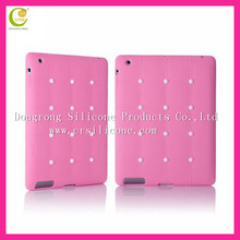 Diamond silicone case for apple ipad mini,High quality for ipad mini bear case cover