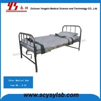 Cheap Metal Frame Hospital Restraint Bed with Patient Strap