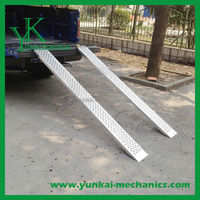 "Aluminum Hook End Motorcycle/Truck Loading Ramps - 4'11"" Long & 8.5"" Wide"