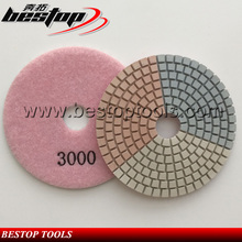 3 Step Diamond Flexible Wet floor Polishing Pads for stone marble concrete