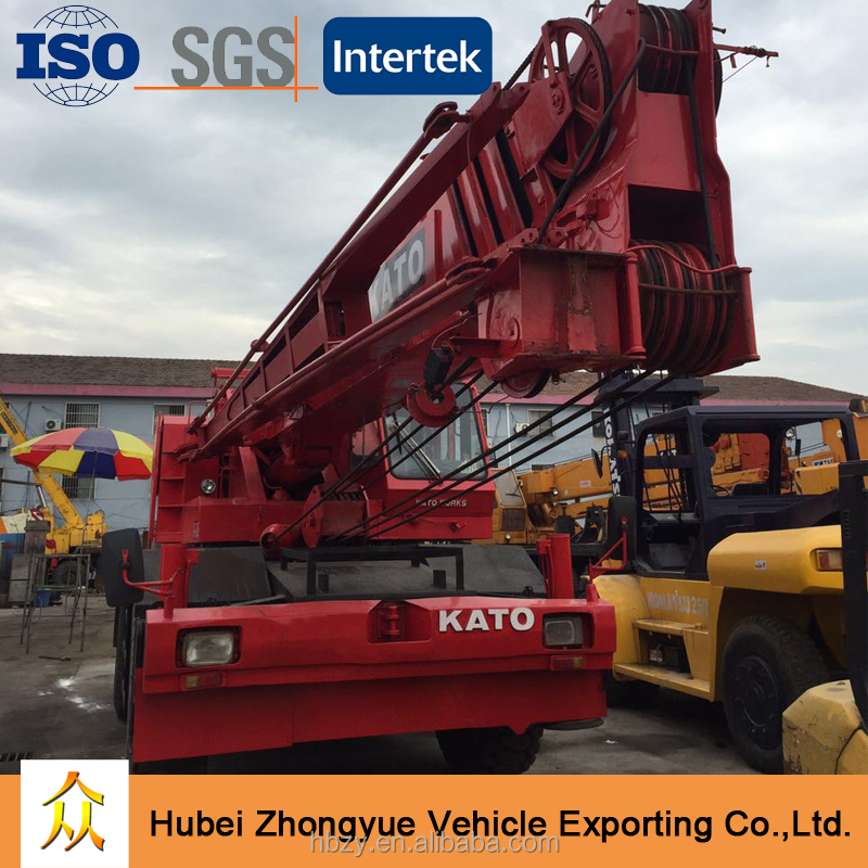 Good Condition Used Japanese Kato 50 ton Rough Terrain Crane KR-500 for sale