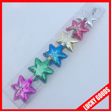 2014 new design shiny colored christmas ornament star wholesale