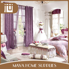Latest designs bulk wholesale household fancy window curtains for living room