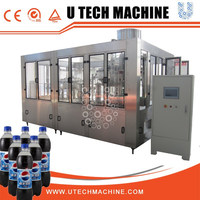 Automatic monoblock 3 in 1 carbonated beverage filling line