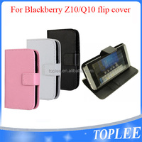 hot sale flip cover for blackberry Z10 Q10 flip case