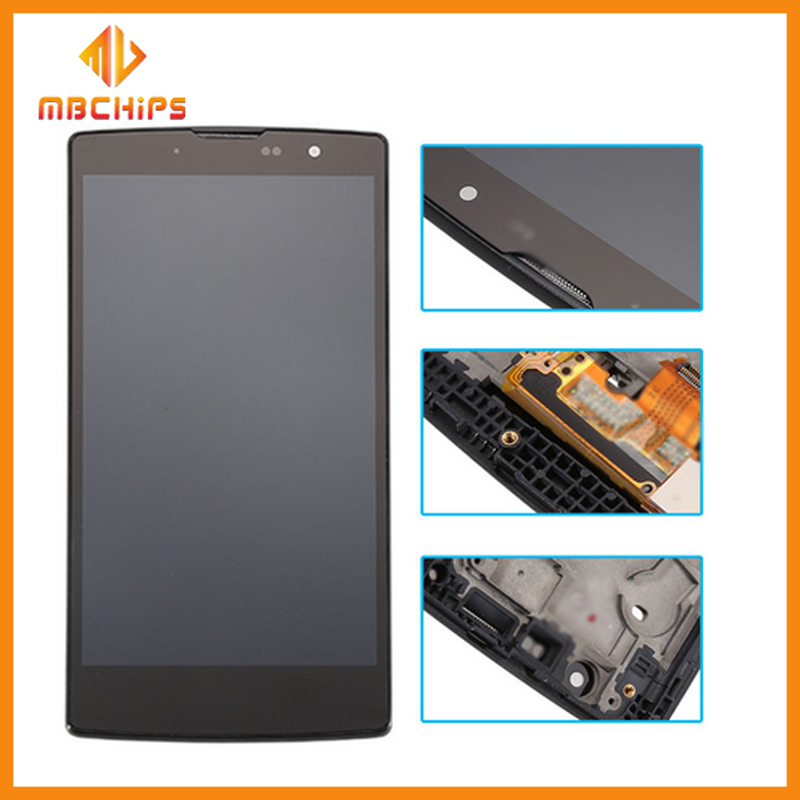 Black Mobile Phone LCD For LG Magna H502F H502 LCD Display Digitizer Touch Screen With Frame Assembly