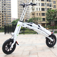 12'' mini folding e scooter aluminum bike frame