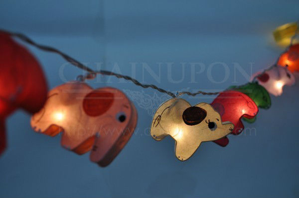 ELEPHANT FANCY LANTERN STRING PARTY,FAIRY,KID BEDROOM,HOME,CHILDREN,DECOR LIGHTS