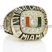 national champions Miami Hurrican championship ring wholesale