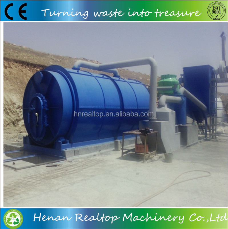 Fully automatic waste plastic/tyre pyrolysis plant to diesel oil/oil refining machine to fuel oil