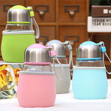 Wholesale Stock New Arrivals 400ML Big Belly Type Portable Glass <strong>Cup</strong>