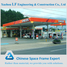 Long span light steel structure roof design for gas stations