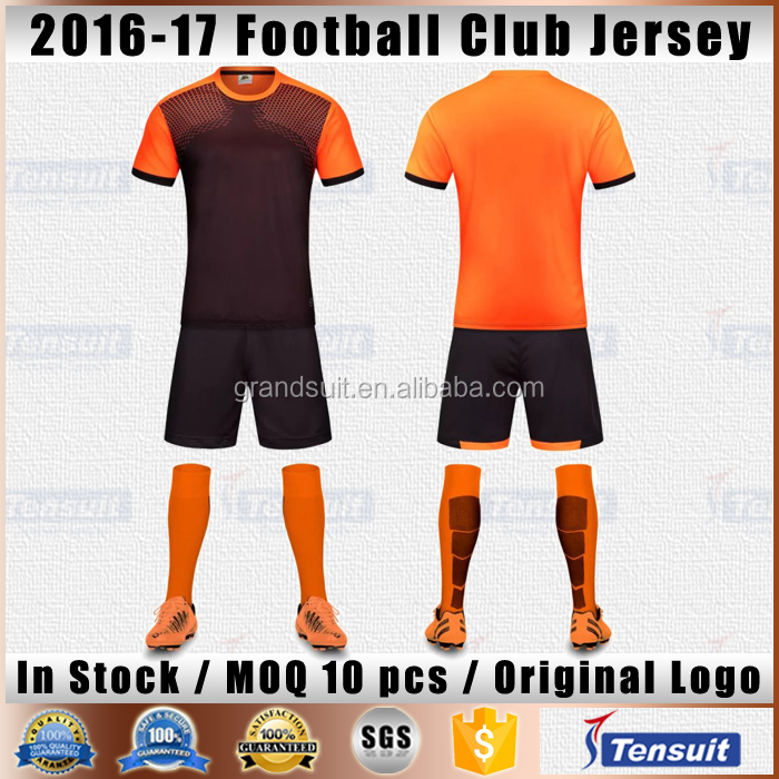 custom football team jersey set uniform printing blank soccer jersey top thai quality dry fit soccer sports wear for men