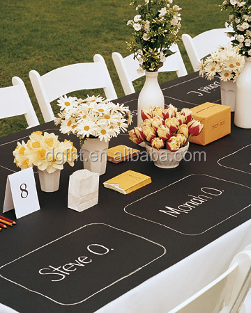2016 Eco friendly chalkboard table cloth oil cloths fabric