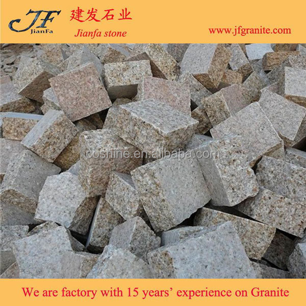 G682 Yellow Granite Flamed Pavers for Driveway flooring /Garden Stepping