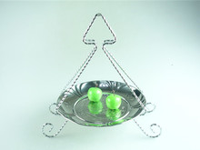 Metal cake stand in stainless steel decoration serving tray for wedding cake stand durable