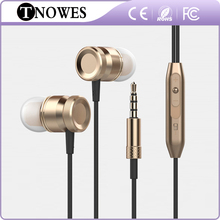 Metal Earphones Headphone Volume Control With Mic Headsets For All Mobile Phone