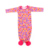 Hot sale long sleeves ruffle baby gown cotton newborn gown for girl