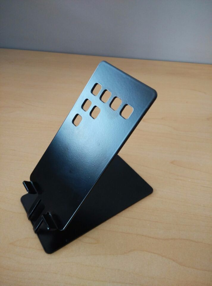 Metal bracket for phone /Custom sheet metal fabrication