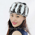 CX-E-37S Genuine Elastic Rex Rabbit Fur Headband OEM Wholesale/Retail