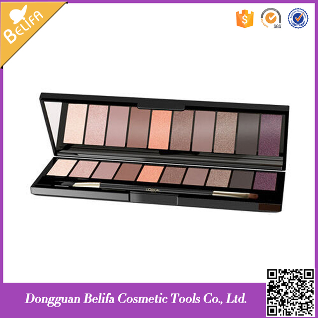 Excellent quality 10 color eyeshadow palette for cosmetics