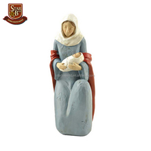 Factory custom made religious gift resin Mary and baby jesus statue