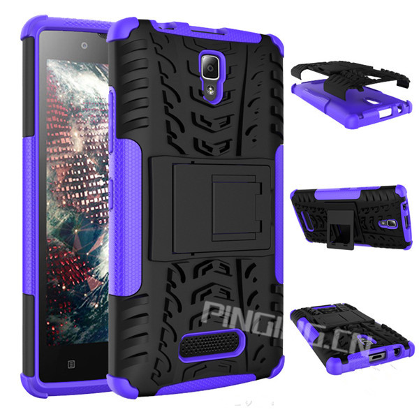 Fashion kickstand stand armor case back cover for lenovo a2010