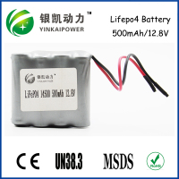12v 500mah rechargeable battery / 12v 500mah lifepo4 battery pack /li-ion battery pack 12v 500mah